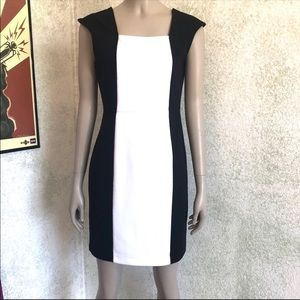 Worthington black and white cocktail dress